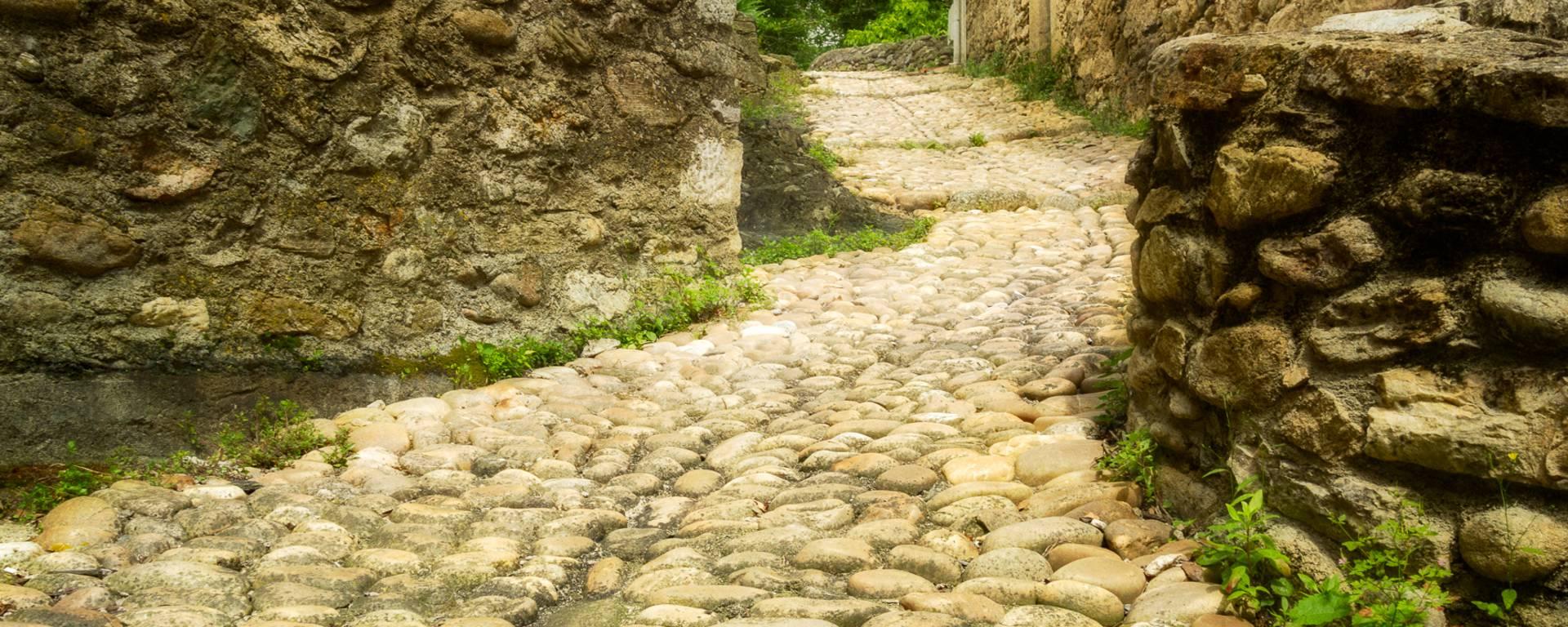 """Stone pathway in the """"Pays d'Art et d'Histoire"""" of the Haut Languedoc et Vignobles"""