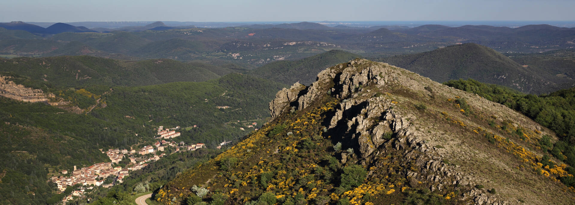 View of Graissessac depuis from Mont Cabanes ©G.Souche