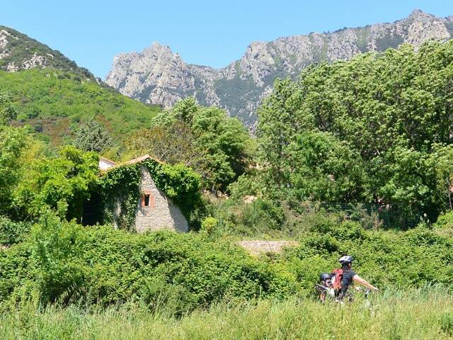 Greenway with mountains at la Trivalle ©G.Delerue-Hérault tourisme
