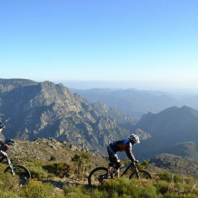 Mountain biking on the Caroux plateau