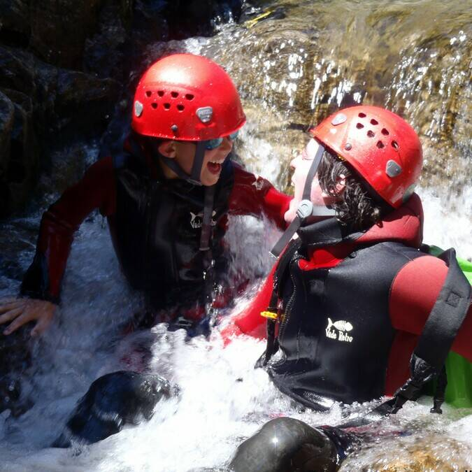 Canyoning in the Rec Grand canyon