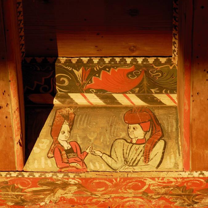 Painted mediaeval ceiling Pays d'Art et d'Histoire Haut Languedoc et Vignobles